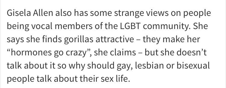 The Ukip candidate who wants to bring back the guillotine has given her views on gorillas. https://t.co/hnUSDcgb5m