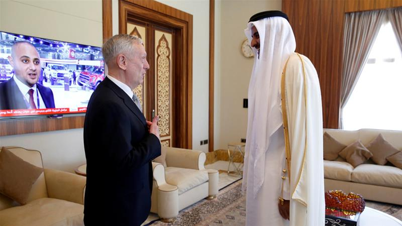 US Defence Secretary James Mattis visits Qatar to 'reinforce' ties