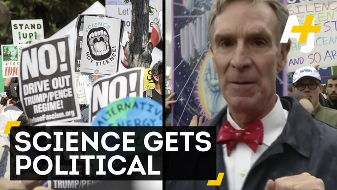 Tens of thousands of scientists and supporters took to the streets on Earth Day.