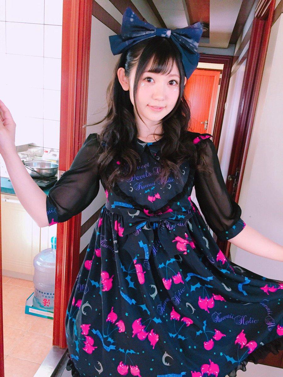 優さんがデザインした #KawaiiHolic のお洋服を着て #アイメモ のご縁で出会った優さんと二人でライブ出演させ