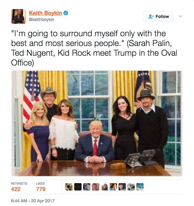 President Trump had some special guests at the White House including Sarah Palin and Ted Nugent. And people can't get enough of the event.