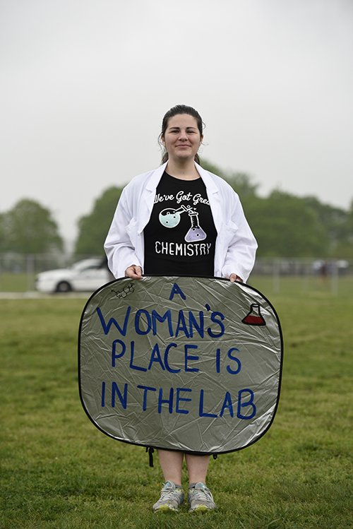'A woman's place is in the lab.' Check out more from yesterday's #MarchForScience events around the world: https://t.co/7dFf0nY28I