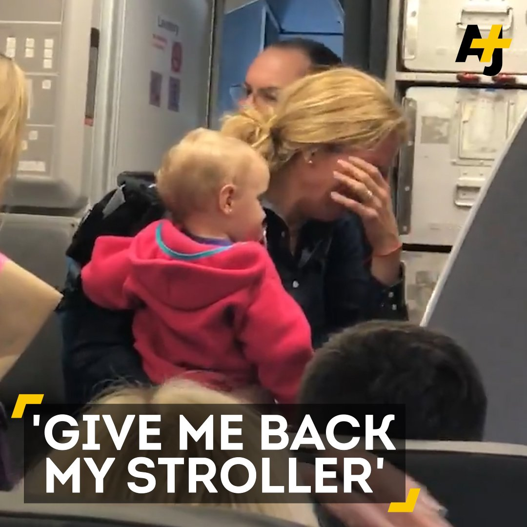 A mother is left in tears as another airplane altercation goes viral. This time, fellow passengers got involved.