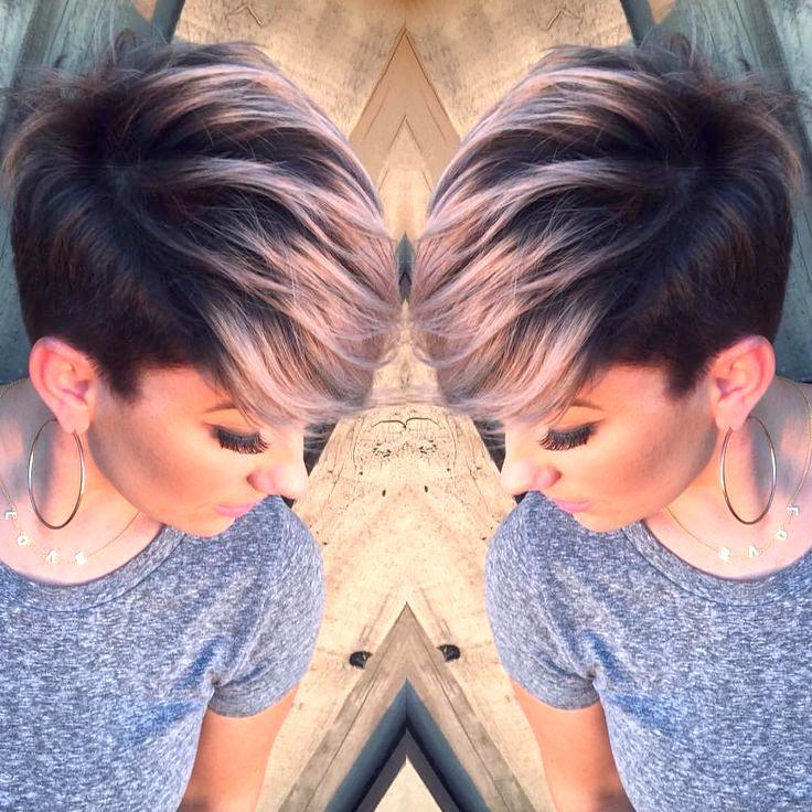 Короткие модные стрижки и покраски волос
