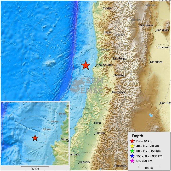 Felt #earthquake M5.2 strikes 52 km W of Viña del Mar (Chile) 14 min ago. Please report to: https://t.co/iPuopg8b8j