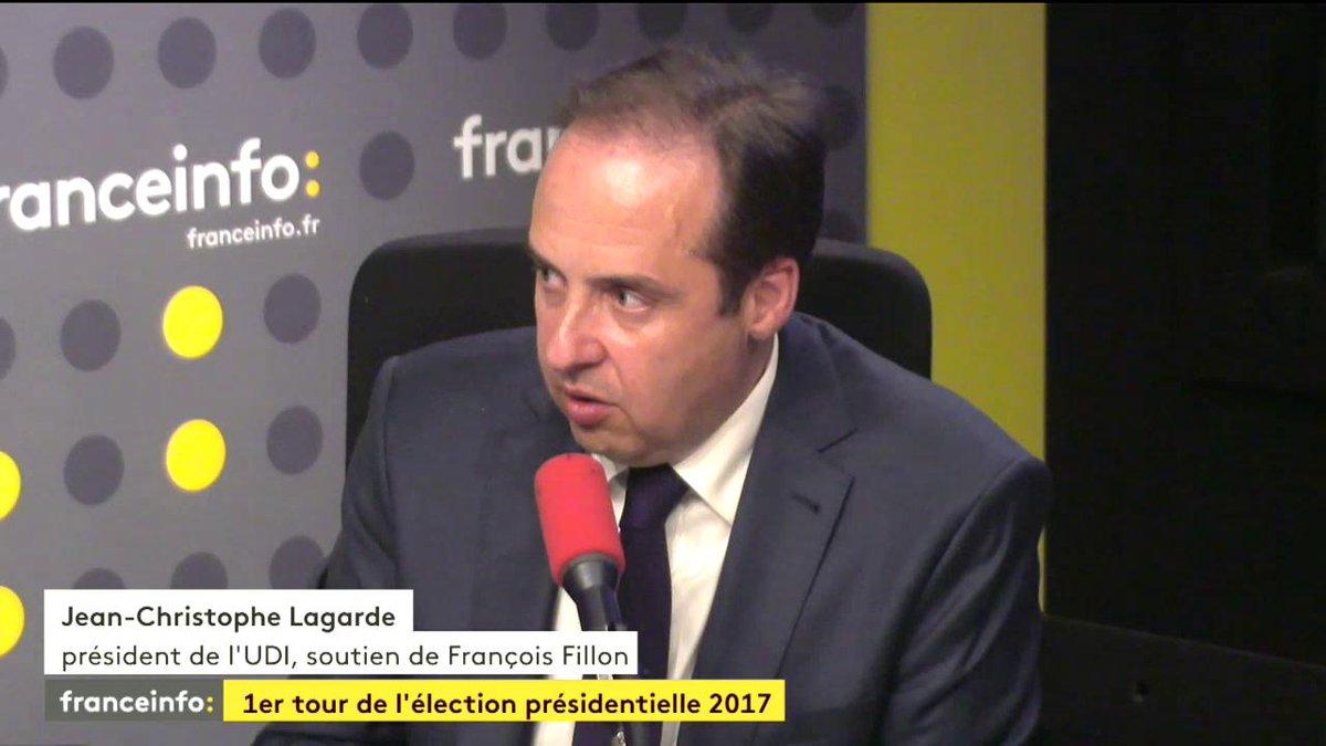 'Nous ferons ce que nous pouvons pour que Macron l'emporte' Jean-Christophe Lagarde UDI @franceinfo