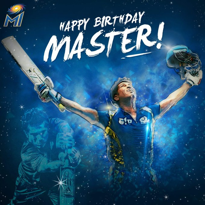 Happy bday the lord of cricket The master blaster Sachin Tendulkar
