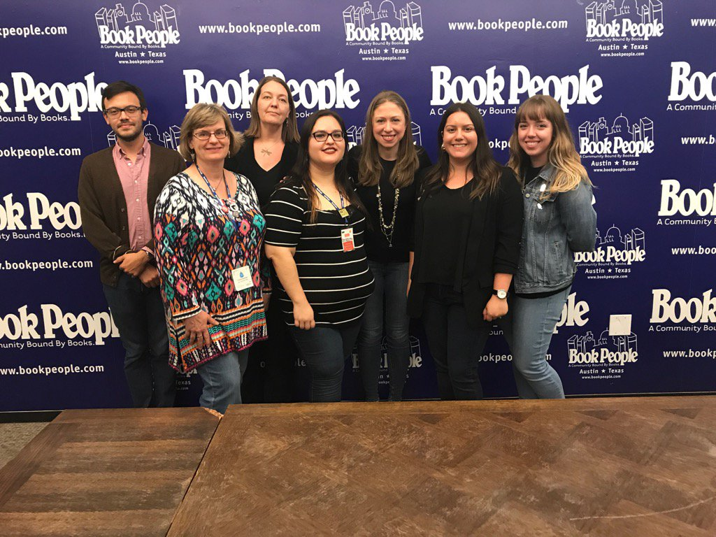 Thank you to whole @BookPeople team for a great #ItsYourWorld signing last night in Austin!