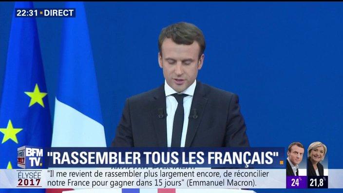 EN DIRECT - @EmmanuelMacron : 'Le combat pour être digne de conduire notre pays commence ce soir'  📺 https://t.co/PVPMc8B5a1