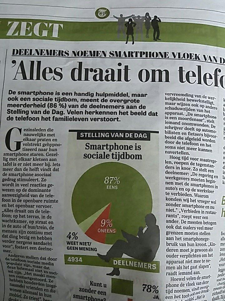 test Twitter Media - Volgens Telegraaf is dom kletsen aan tafel beter dan smartphone https://t.co/Cb49rOinJO