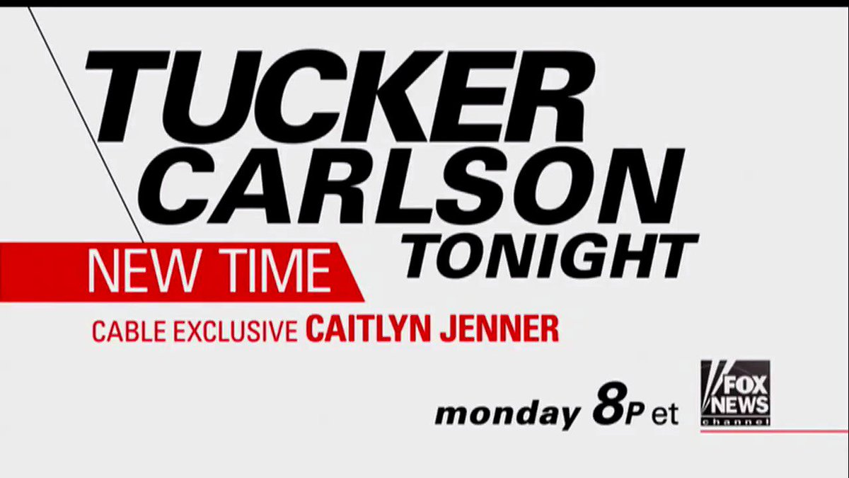 MONDAY: @TuckerCarlson Interviews @Caitlyn_Jenner - Tune in at 8p ET on Fox News Channel!