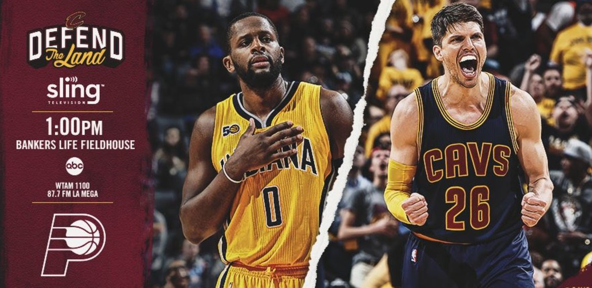 Time to #DefendTheLand! Watch the @cavs take on the  @Pacers in Game 4 on News 5.