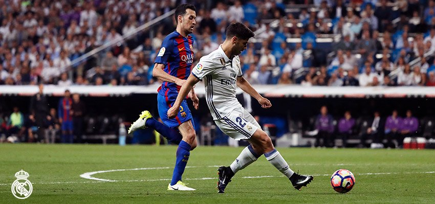 FT: #RealMadrid 2-3 Barcelona ( 28', 85'; Me...