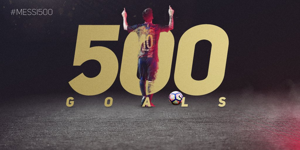 RT @FCBarcelona: ???? #Messi500 #ElClásico #ForçaBarça https://t.co/0kCqC6zt4f
