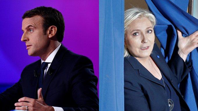 Estimations à 20h : Emmanuel Macron (23.7%) & Marine Le Pen (21.7%) s'affronteront au 2d tour  https://t.co/DWxd5NQsLu#Presidentielle2017