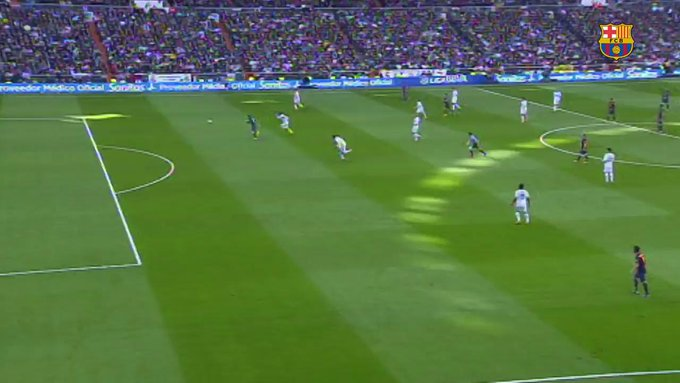 15 mins to #ElClásico! Enjoy ⚽️ from Leo #Messi against Real Madrid in the Santiago Bernabé #LaLiga https://t.co/4pIPQ3qKpB