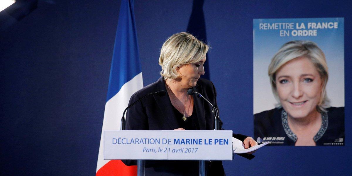 Marine Le Pen, qualifiée mais affaiblie https://t.co/HDu8VMIgAi par @AFocraud