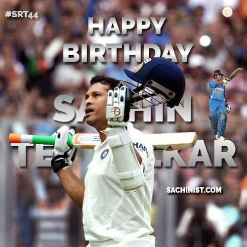 Happy birthday to little master tendulkar