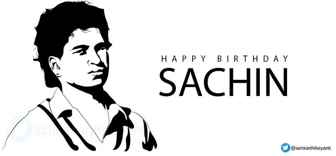 Happy Birthday Sachin Tendulkar.  The Legend Among Men, !!
