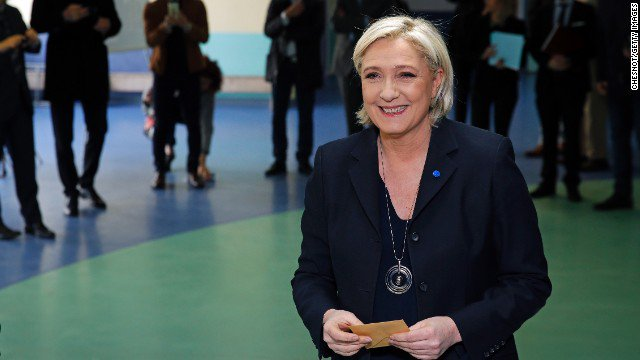 Marine Le Pen hails first-round result: 'It is time to free French people from arrogant elites' https://t.co/bx2KEdWp92