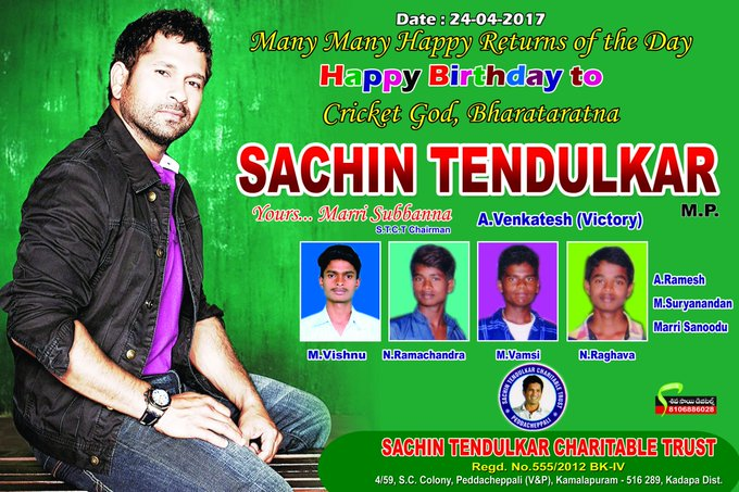 Happy Birthday to you cricket god bharataratna Sachin Tendulkar sir