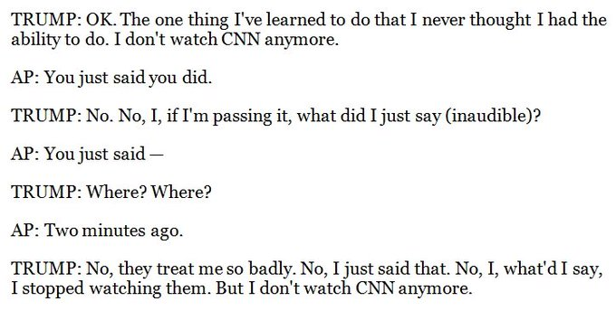 This is one of the funniest Trump-lie exchanges of all time.
