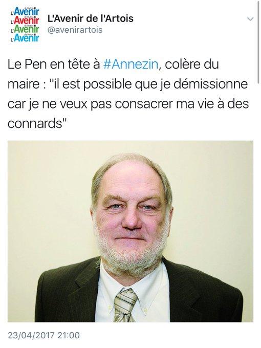 Le maire d'#Annezin veut démissionner suite aux resultats du 1er tour dans sa commune via @avenirartois