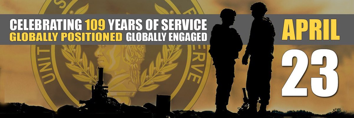 Happy 109th Birthday, @USArmyReserve. Thank you for your service! -DJT