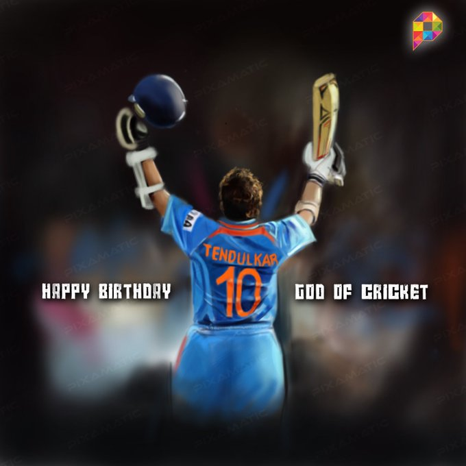 Happy Birthday To The Legend Sachin Tendulkar..!! :) <3 :D