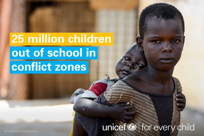 #EducationCannotWait for 25m children missing out on school in conflict zones https://t.co/DNXjdNqwwE #foreverychild
