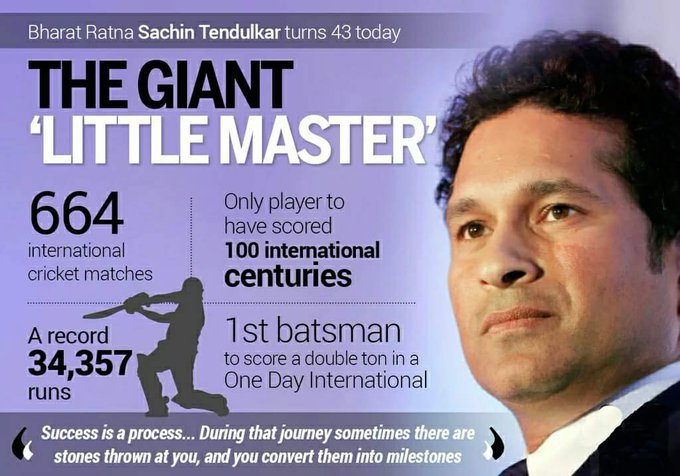 A Very Happy Birthday My Our Own Master Blaster Cricket God Sachin Tendulkar..... .....