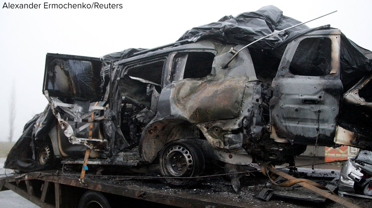 American monitor killed in Ukraine after vehicle blown up by mine in the separatist Luhansk region. https://t.co/VToDmHOMru