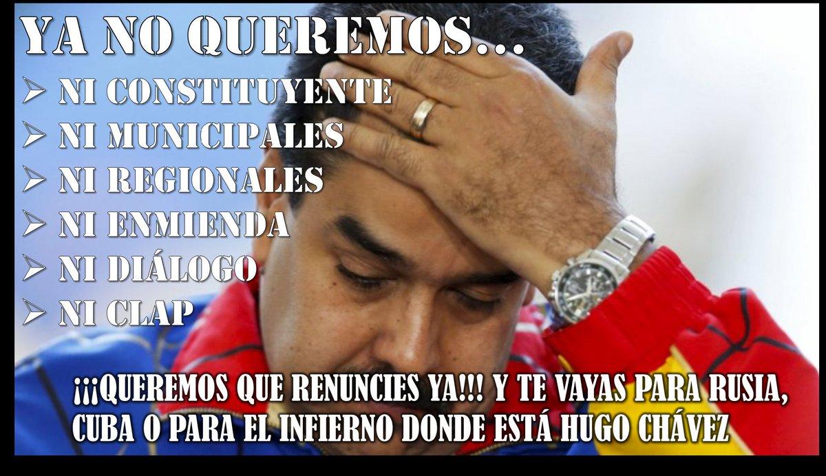 El plantón del lunes 24-A es para exigir la RENUNCIA del narcotraficante, extranjero, ladrón, criminal, mentiroso y traidor Nicolás Maduro.