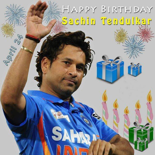Very happy birthday sachin tendulkar God bless you