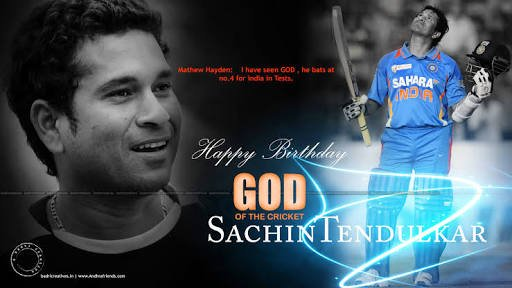 Happy birthday master sachin tendulkar    ...!
