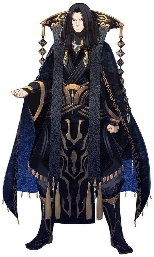 蔑天骸(CV.関智一)。虚淵からの「剣士としての動きやすさなど度外視して、悪の大魔王と思ってデザインしてほしい」というオ