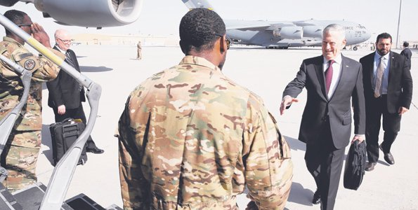 US Secretary of Defense Mattis visits Djibouti