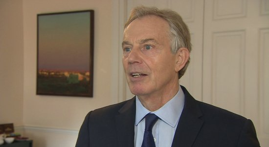 Former British Prime Minister Tony Blair says he may return to frontline politics