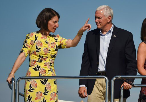 Pence cites 'challenging times' to troops in American Samoa