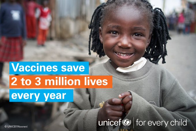 It's World Immunization Week! #VaccinesWork & we're doing whatever it takes to make sure they are available  💙. #foreverychildRT