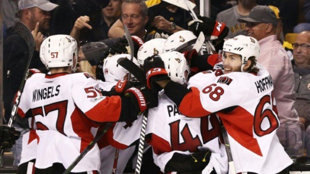 NHL Senators oust Bruins with overtime triumph
