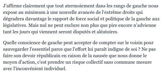 En 2002, il avait fallu choisir entre Chirac et Le Pen. Voici quelle était alors la position de Jean-Luc Mélenchon : https://t.co/yV2j7oxoSD