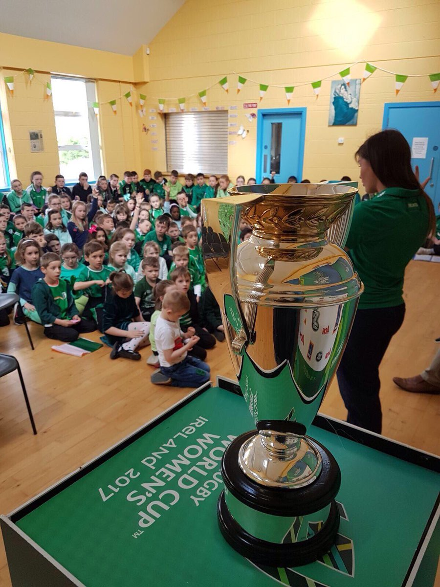 test Twitter Media - Great to have Anna Caplice do a Q&A at burnsfort national school. Inspiring the next generation at each stop of the #WRWC2017 trophy tour 🏆 https://t.co/QJJAhfUX1c