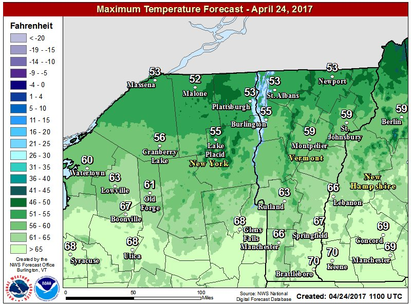 test Twitter Media - A weak cold front has brought some clouds to northern VT and northern NY this morning, but clear this afternoon. Highs in the 50s. https://t.co/6ydYwNRsSC