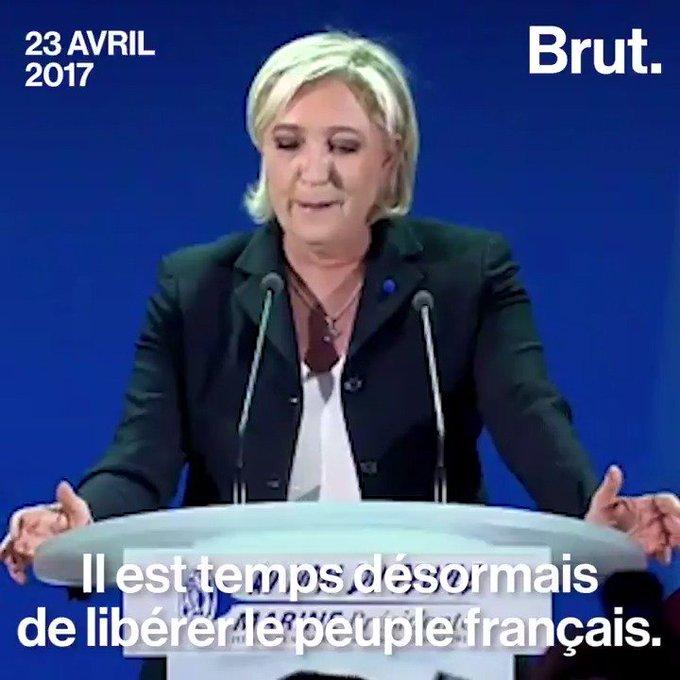 21 avril 2002 / 23 avril 2017 : déclaration de Jean-Marine Le Pen.