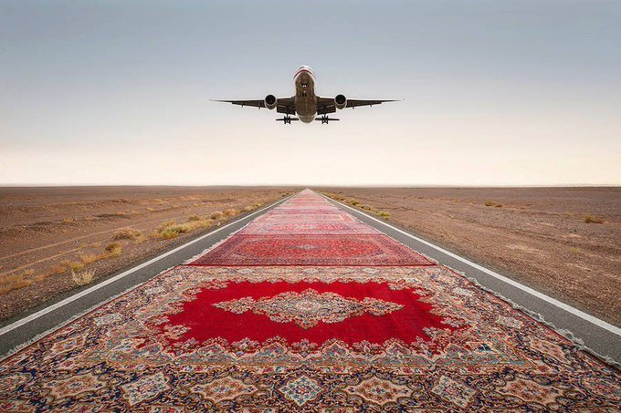 Unexpected Photographs with Persian Carpets https://t.co/9O2kw8QpOl https://t.co/2NNltQcfbp