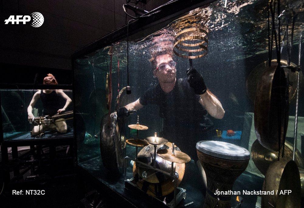Complètement baroques, des musiciens danois ont créé un concerto sous-marin en apnée https://t.co/L7FvTcjTCj #AFP