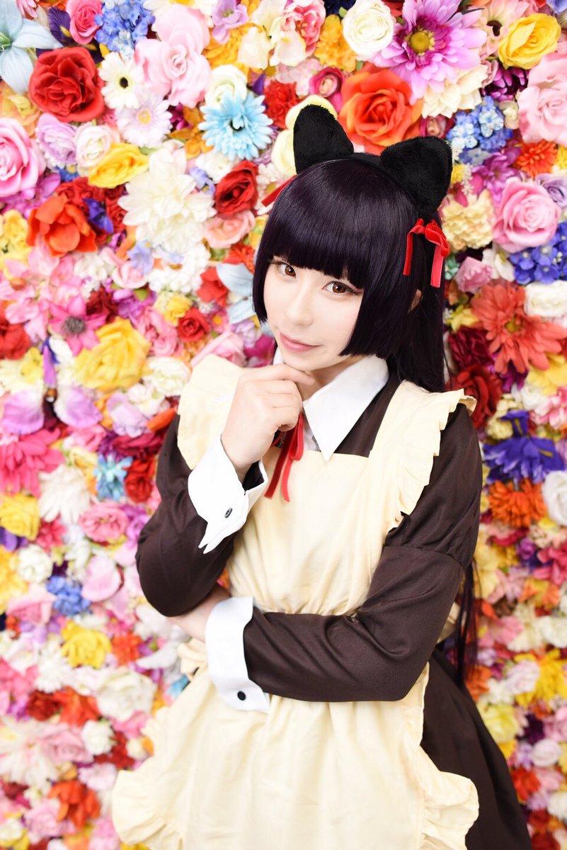 お写真頂きましたっ( ゚∀゚)ピャ----ッ!!!ありがとうございますっっ\\\└('ω')┘////俺妹:黒猫メイド