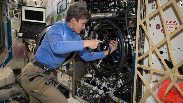 On Monday  NASA astronaut Pegg peggy whitson