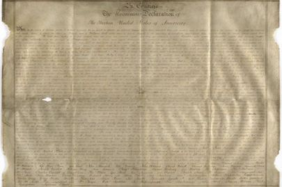 A rare copy of the United States' Declaration of Independence has been discovered in South East England https://t.co/1RaE7gLGsj